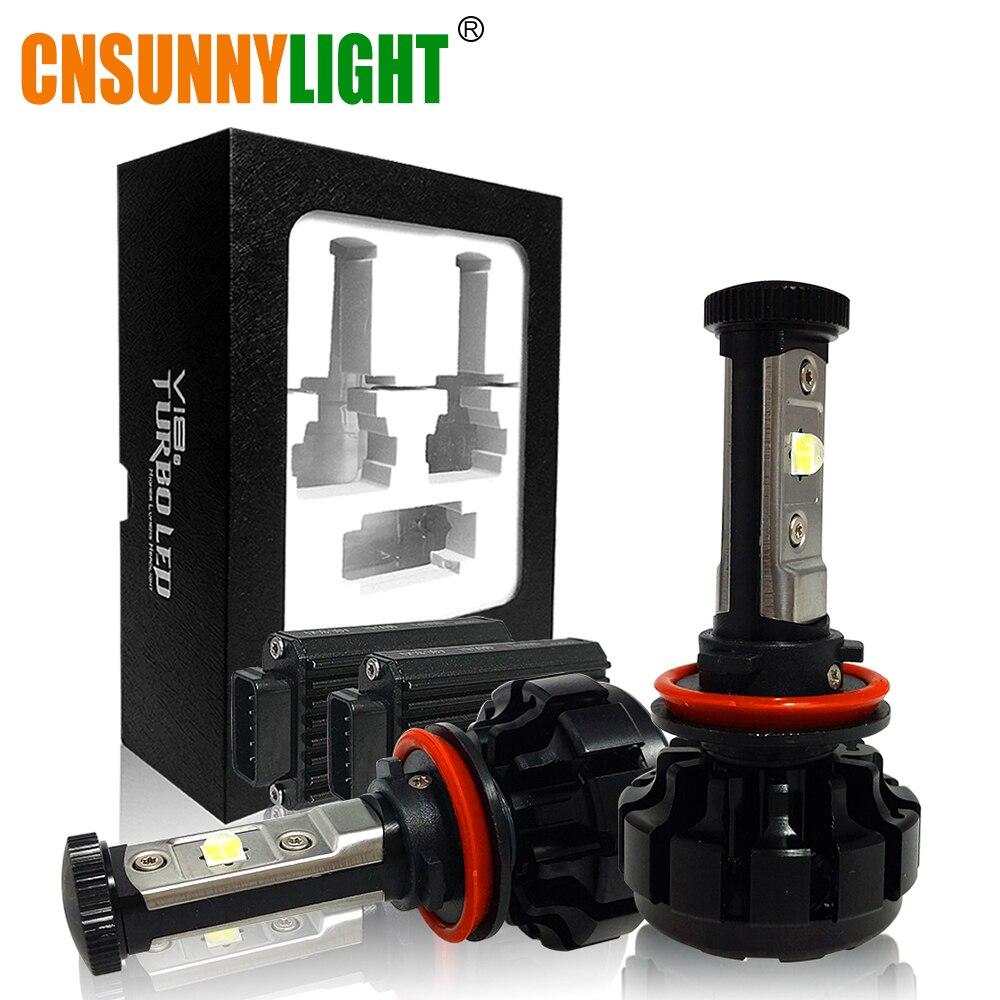 CNSUNNYLIGHT 10000LM Super Luminoso Auto HA CONDOTTO il Faro Kit H7 H11/H8/H9 9005/HB3 9006/HB4 9012 Sostituire La Lampadina w/Anti-Abbagliamento Fascio