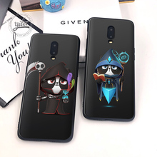 For Case Oneplus 6T 7 Cover Black Soft Silicone Cute Panda for Funda Phone Cases 1+6T 1+7 Capa