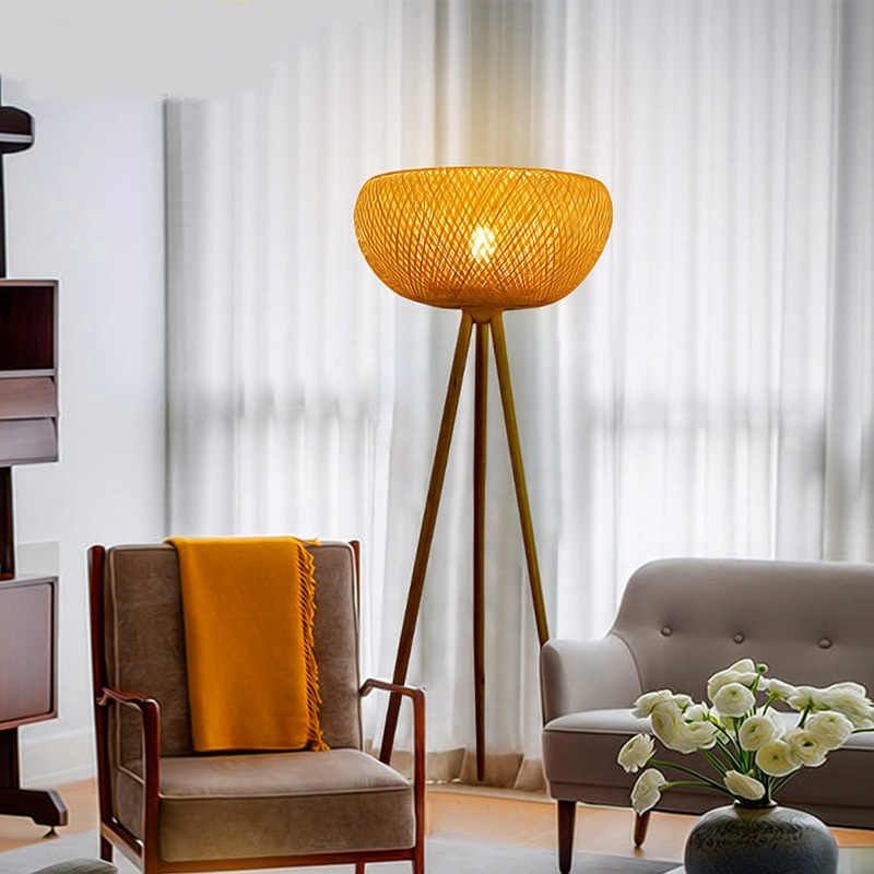 Southeast Asia Bamboo Shoots Floor Lamp Creative Modern Chinese Style Retro Living Room Lighting Book BalconyFloor Lamps Ya73112 In From Lights