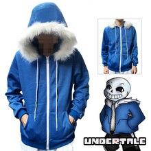 Undertale Sans Cosplay Hoodies Latex Mask COOL SKELETON Cos Blue Coat Halloween Cosplay Costume Unisex Jacket Headgear стоимость