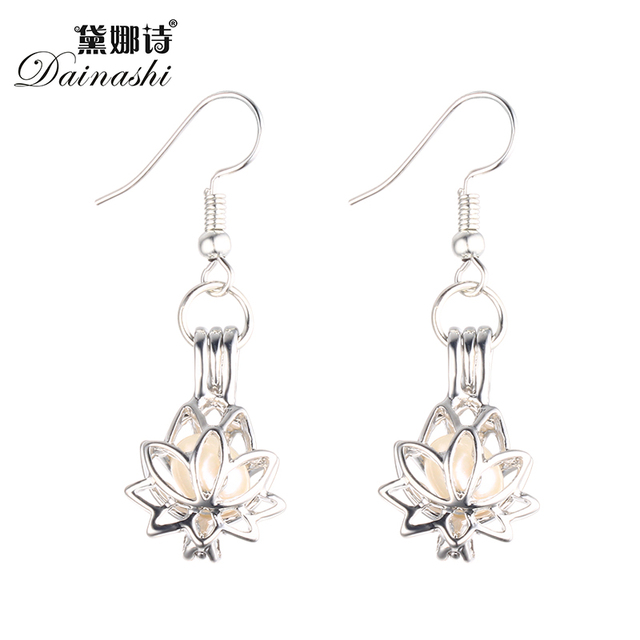Low Price Ethnic Lotus Pearl Locket Earring With Genuine Freshwater Earrings For Women