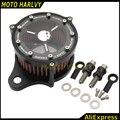 Corredores del filtro de aire Para Harley sportster XL 883 1200 2004-2015 Para Áspero Artesanía Del Filtro de Aire + Filtro de Entrada sistema de La Cubierta