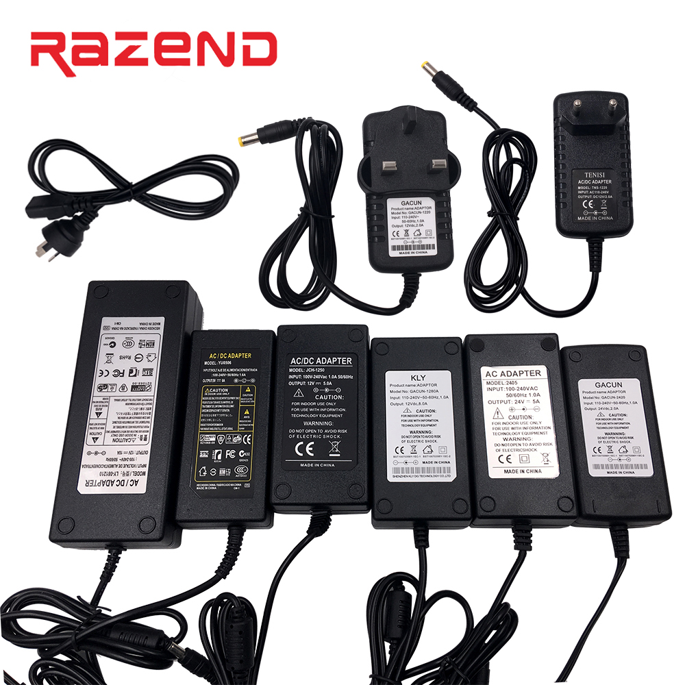 Led Power Supply Adapter Transformer AC 100-240V to <font><b>DC</b></font> <font><b>5V</b></font> <font><b>12V</b></font> 24V 1A 2A 3A <font><b>4A</b></font> 5A 6A 10A Led driver <font><b>Converter</b></font> EU/US/UK/AU plug image