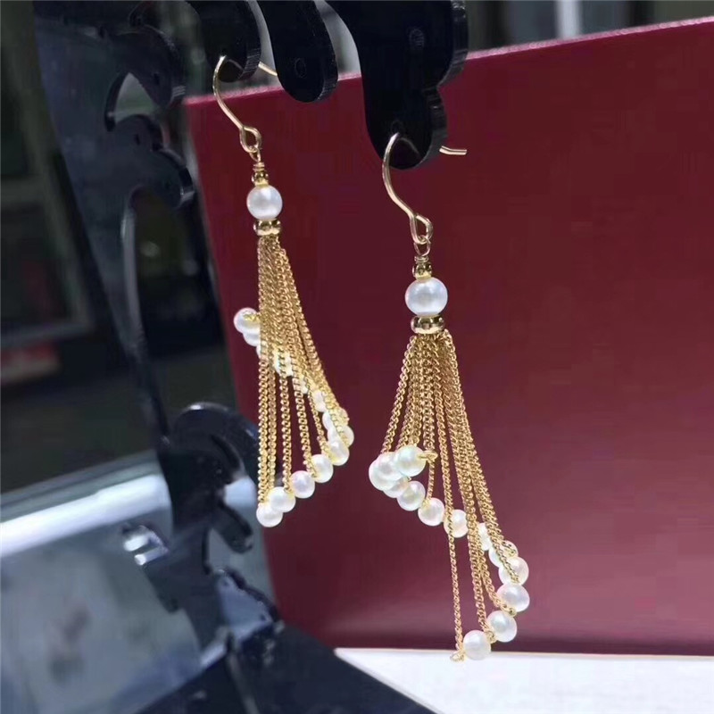 все цены на Tassel Earrings For Women Ethnic Long Drop Earrings Bohemia Fashion Jewelry Trendy Natural freshwater pearl Bijouterie Hot Sale
