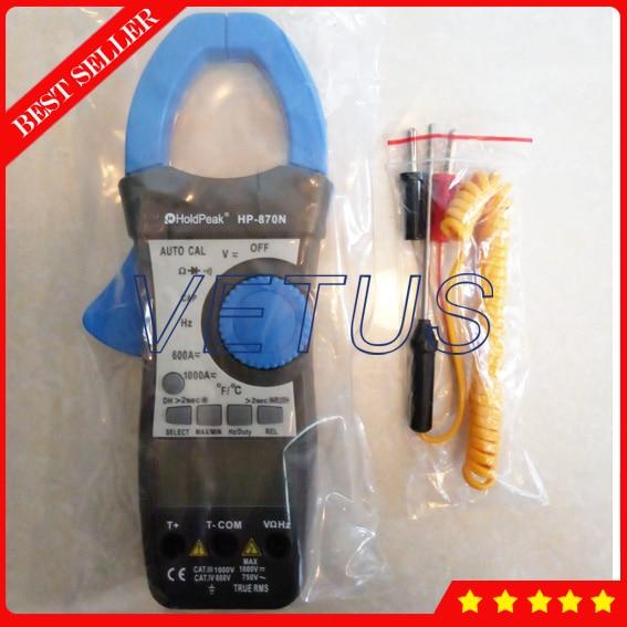 HP-870N Digital AC DC Clamp Meter Dual LCD Back Light fluke f302 1 6 lcd ac clamp meter yellow red 3 x aaa