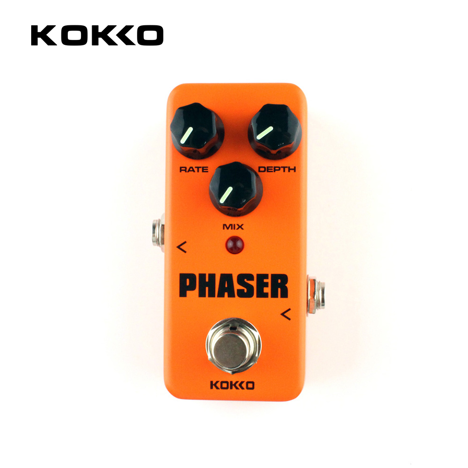 KOKKO FPH2 Orange Mini Electric Guitar Amplifier OD Effect Pedal Guitarra Pedal Phaser Portatil For Musical Instruments Parts kokko fbs2 mini guitar effect pedal guitarra booster high power tube electric guitar two segment eq effect device parts