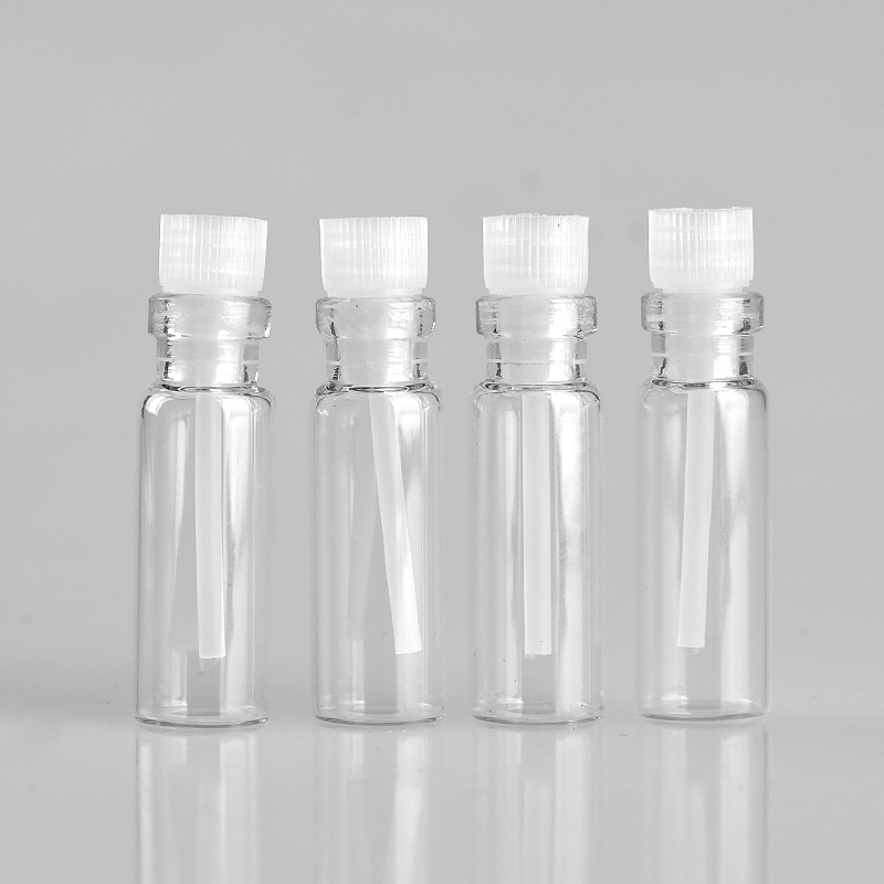 100Pieces Lot 3ML Mini Portable Glass Perfume Bottle Empty Essential Oils Case Liquid Medicine Bottle