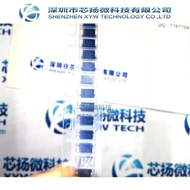 XIN YANG Electronic Free Shipping 1000pcs/lot SMD rectifier diodes GS1M making S1M SMA DO 214AC new original
