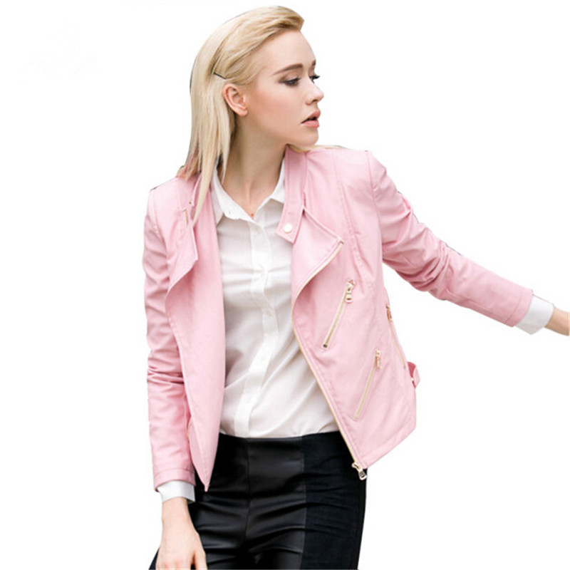 Online Get Cheap Pink Leather Jacket -Aliexpress.com | Alibaba Group