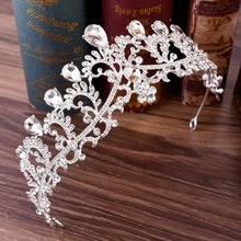 Luxury Crystal Rhinestones Royal Princess Bridal Tiaras Crown Rhinestone Pageant Crowns Bride Headbands Wedding Hair Accessories недорого