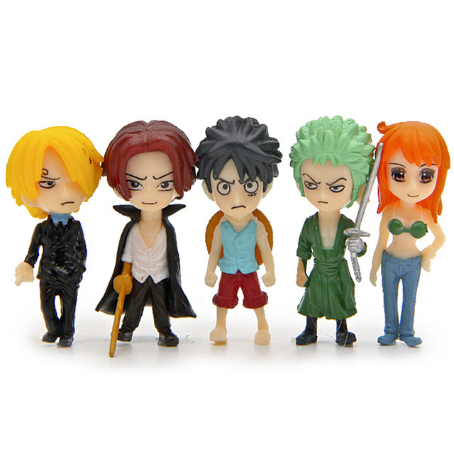 5pcs Mini Pop Sanji Luffy Zoro Nami 4.5cm