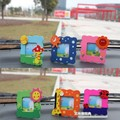 Candice guo! Wooden mini cartoon photo frame message frame baby small picture frames 5pcs/lot