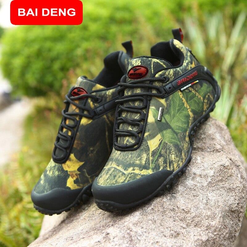 Prix pour BAIDENG Nouveau Plaisir En Plein Air et les Sports de Montagne Trekking Chaussures Bottes De Chasse En Cuir Étanche Randonnée Chaussures Hommes Boot 8068