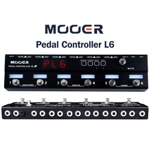 Mooer PCL6 Pedal Controller Programmable Loopswitcher with 6 Loops L6 PL6 With Free connector