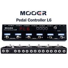 Mooer PCL6 pedalı denetleyici programlanabilir Loopswitcher 6 döngüler ile L6 PL6 ile ücretsiz bağlayıcı