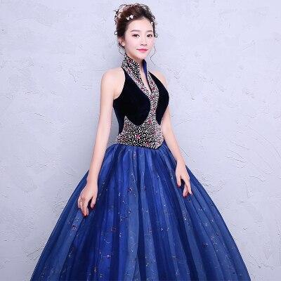 royal blue beading queen ball gown Medieval dress Renaissance gown royal Victorian dress/princess cosplay Belle Ball/ball gown