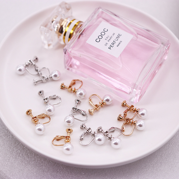 10Pcs Screw Clip Earring With Imitation Pearl Converter For Women Diy Handmade Earrings Fashion Jewelry Accessories