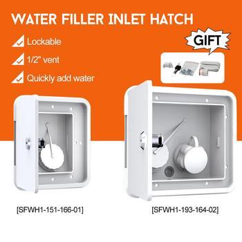 "1/2"" Vent Lockable-Gravity Water Filler Inlet Hatch For Boat Motorhomes Caravan Camper-RV UV Stabilised ABS Material White"
