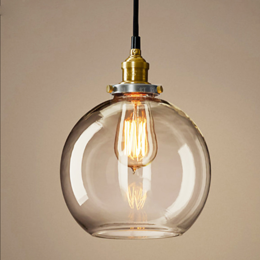 Antique Diy Ceiling Lamp Crystal Clear Gl Cover Pendant Lighting Edison Bulb In Holiday From Lights On Aliexpress Alibaba Group