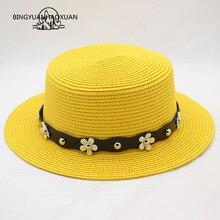 BINGYUANHAOXUAN Summer child Sun Hat Casual Vacation Straw Hat-Panama Women Wide Angle Beach Jazz Mens Hats Folding Opening