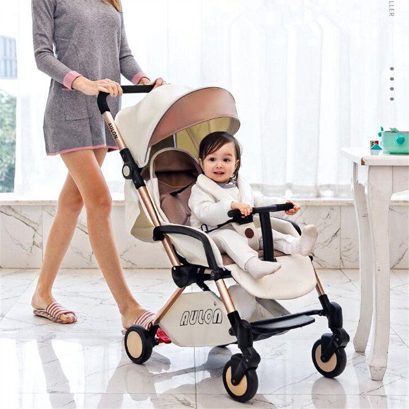 Free Shipping Luxury Baby Stroller Fashion Travelling Carriage European Lightweight Portable Pram Can Lying and Seat bair lightweight baby stroller portable travelling pram