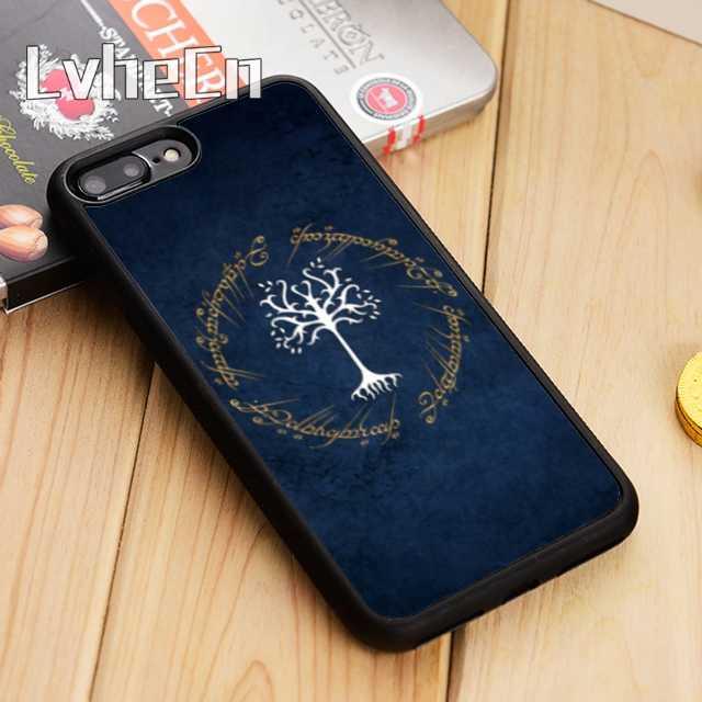 ÁRVORE DE GONDOR LvheCn LOTR Phone Case Capa Para iPhone 5 6 6s 7 8 plus 11 pro X XR XS borda Max Samsung Galaxy S6 S7 S8 S9 S10