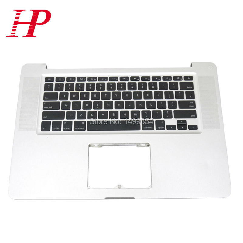 Genuine A1286 Topcase Palm Rest With Keyboard For Apple Macbook Pro 15'' A1286 Top case Palmrest With US Keyboard 2009 Year a1286 top case for apple macbook pro a1286 top case with us keyboard for 2008