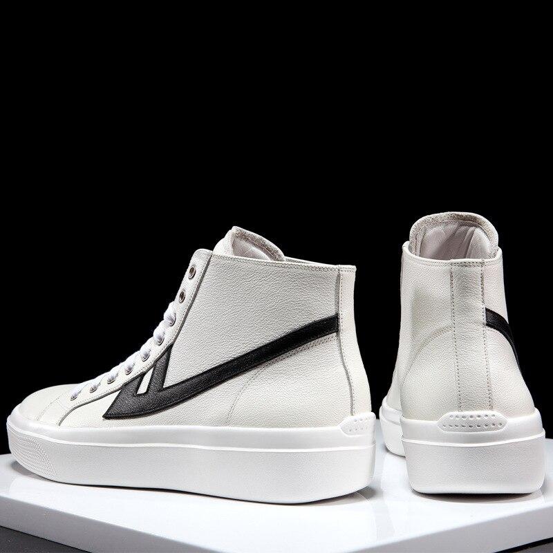 Automne Foncé noir Top Véritable Hommes kaki Beige Designer High Vache Sneakers Peau Loisirs En Printemps Chaussures Homme Cuir De Qualité Haute Marque FTx1W4Hn