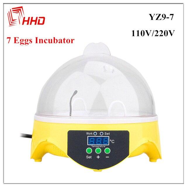 China Barato Pequeno Chocadeira CE 7 Controlador de Temperatura da Incubadora de Ovos Automática Mini Máquina Incubadora de Aves para Frango Pato Aves