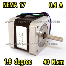 FREE SHIPPING  step motor 17HS15-0404S  L 39 mm  Nema 17 with 1.8 deg  0.4 A  40 N.cm and  bipolar 4 lead wire