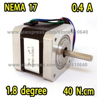 3D Printer or Robot Stepper Motor 17HS15 0404S L 39 mm Nema 17 with 1.8 deg 0.4 A 40 N.cm and bipolar 4 lead wire