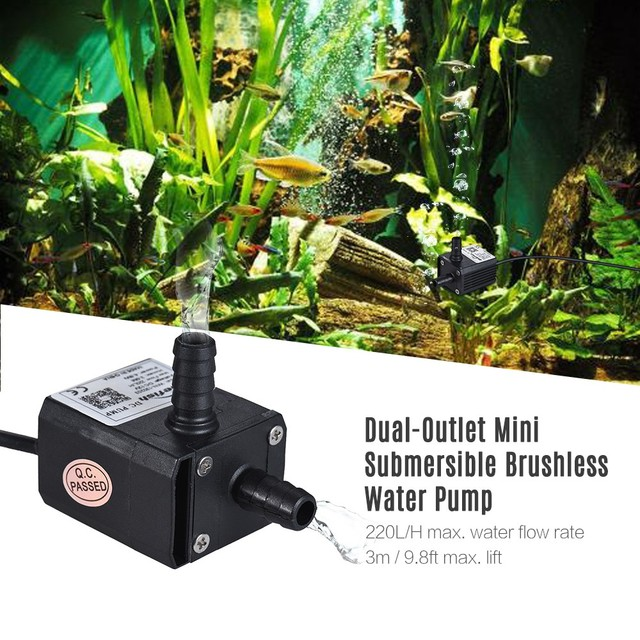 Bluefish Brand MINI DC30A 220L/H 3M Garden Pond Fountain Pumping Brushless Water Pump