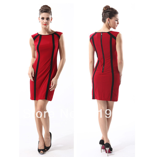 Summer Jersey Sleeveless Red Mid Length Formal Dress In Dresses From