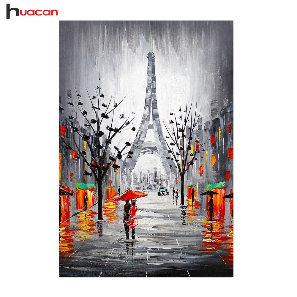 ჱHuracan 5D pareja en Torre Eiffel diamante mosaico Bordado aguja ...