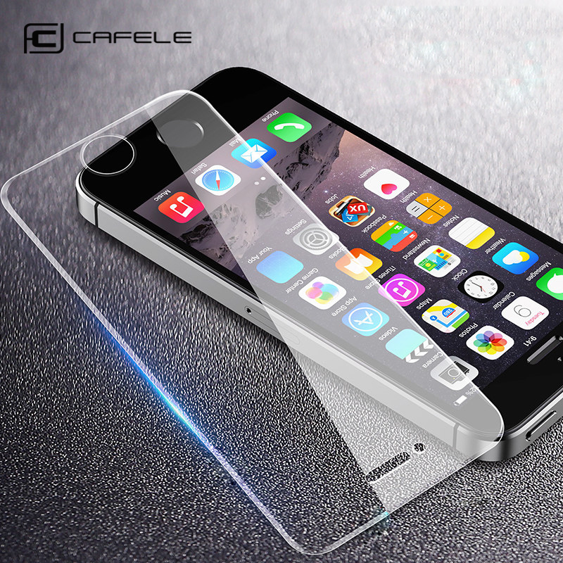 CAFELE Tempered Glass For IPhone 5s 5 Se Screen Protector 9H Explosion-Proof Protective Glass For IPhone5 Se Non Full Coverage