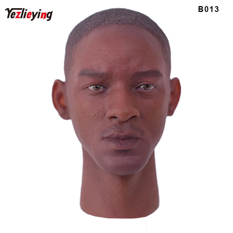 1/6 Scale Will Smith Blacks Man/Male Head Sculpture Model Carving Fit 12 Inch Phicen Action Figure HT TTL Toys Doll As Gift 2pcs mini water bucket prop model for 1 6 scale male 12 action figure 1 6 army phicen toy doll in store