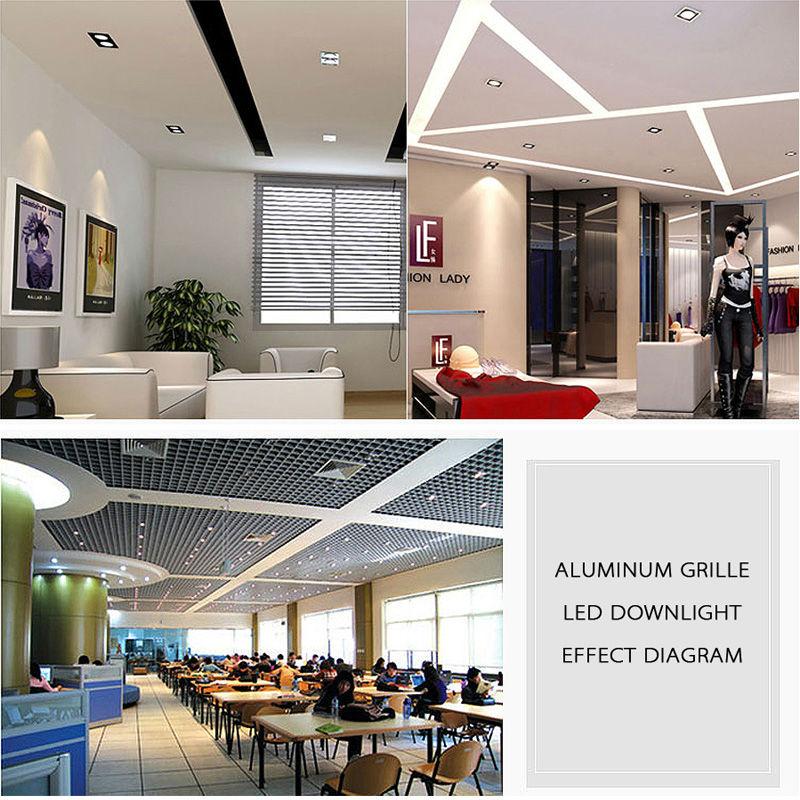 LED Downlights Square Brush plata 3W 6W 9W 12W AC220V 230V LED - Iluminación interior - foto 4