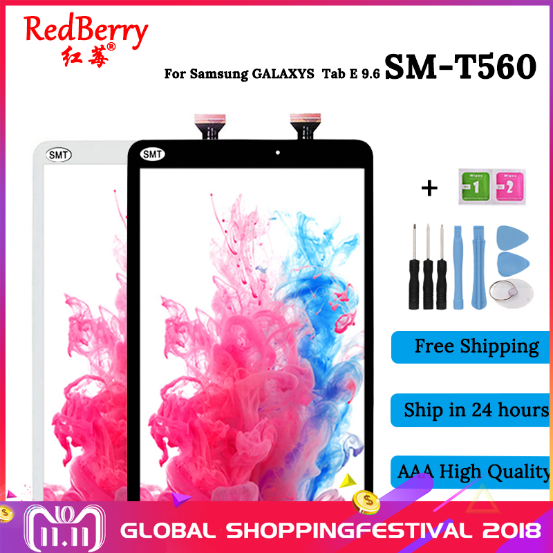 Redberry New For Samsung Galaxy Tab E 9.6 SM-T560 T560 SM-T561 LCD Display Touch Screen Digitizer Matrix Panel Tablet Assembly srjtek 9 6 for samsung galaxy tab e 9 6 sm t560 t560 t561 lcd display touch screen digitizer matrix tablet pc assembly parts