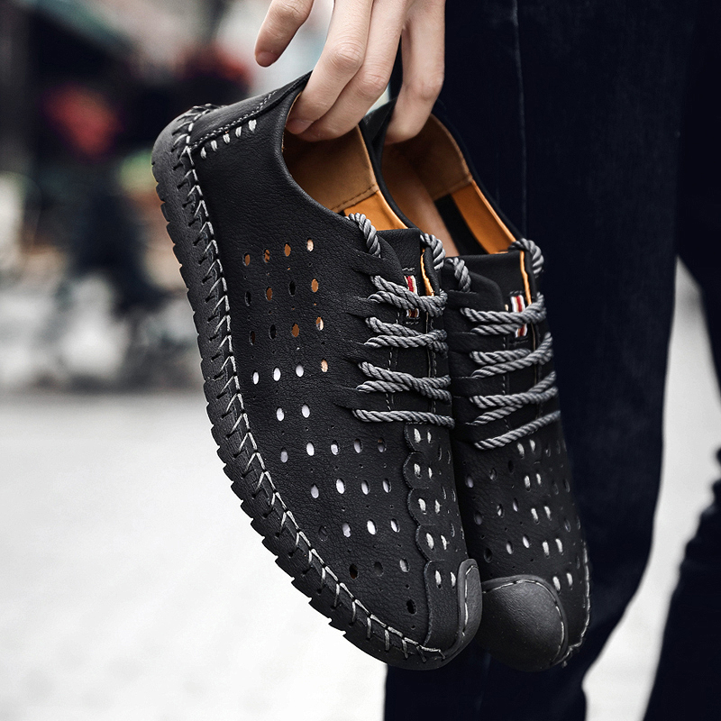 New Summer Comfortable Casual Shoes Quality Split Leather Shoes Man Flats Hot Sale Moccasins Shoes sneaker Mens loafers in Men 39 s Casual Shoes from Shoes