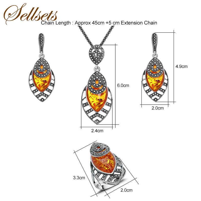 Sellsets ユニークなシルバー色アンティークジュエリーセット New ファッション葉の形状ヴィンテージジュエリーを設定します。