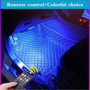 Image 2 - For Peugeot 5008 3008 Mitsubishi Outlander ASX Car LED Strip Light Cigarette Colorful Decorative Lamp Interior Light With Remote