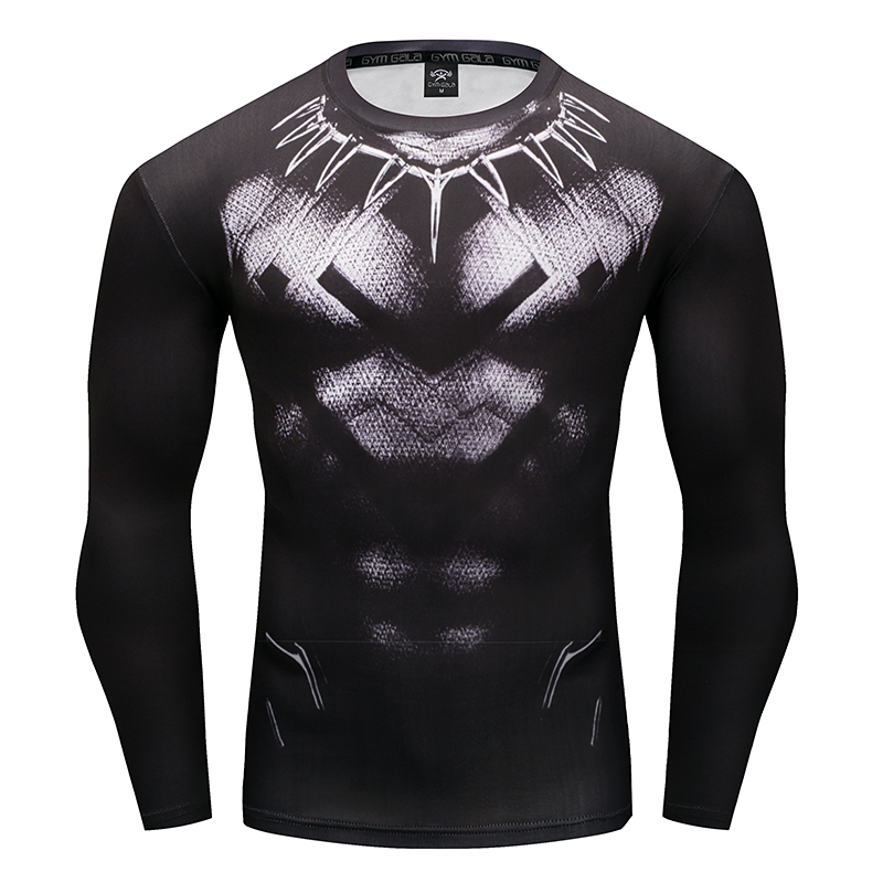 Men's t-shirt 3D black panther fitness t-shirt European and American style street casual menswear Gyms fashion fitness t-shirt