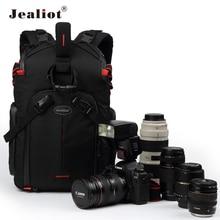 Jealiot SLR מצלמה תיק תרמיל צילום DSLR חצובה תמונה דיגיטלי גשם כיסוי עדשת תיק 14 אינץ מחשב נייד עמיד הלם עמיד למים