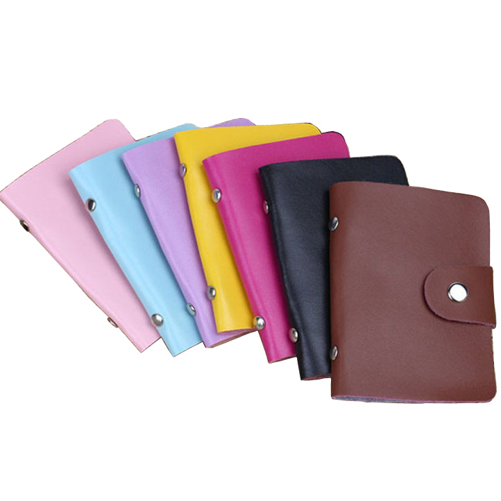 Hot Fashion Business Credit Card Holder Quality PU Leather Buckle ...
