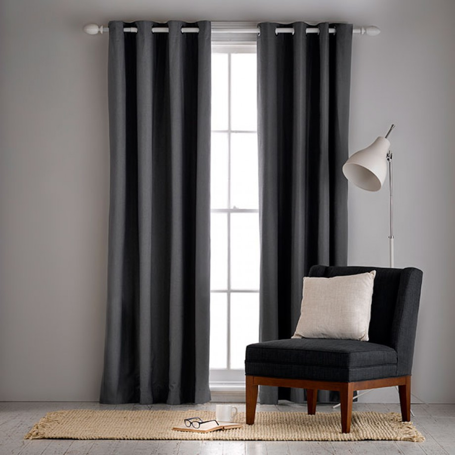 Aberdeen Oatmeal Lightfilter 140x230cm Eyelet Curtain Home Modern Living Room Office Curtains Readymade Windows Shades