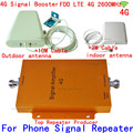 1 conjunto 4G LTE FDD LTE 65db repetidor impulsionador repetidor 4G sinal impulsionador 4G 2600 mhz kit LTE 4G amplificador de sinal de reforço com antena