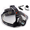 Cree L2 Led Headlamp Frontale Lampe headlight Head Torch Lamp Flashlight  Zoom Focus With USB Port Fishing Hunting + charger