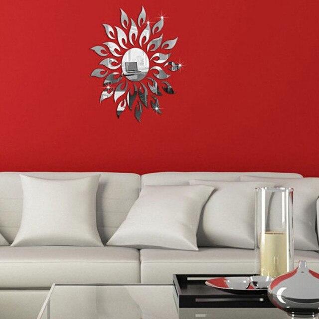 Acrylic mirror stickers living room bedroom wall stickers B Wall Sticker mirrored painted sticker espejos decorativos para pared