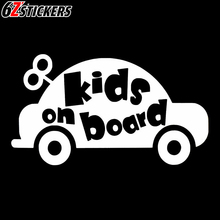 sixsub 1PCS KIDS ON BOARD 40X22cm Fash Car Stickers Motorcycle decals Body Window Stickers Car Styling