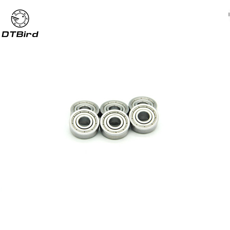 10pcs Mr105zz 604zz 606zz 608zz 623zz 624zz 625zz 626zz 635zz 685zz 698zz Deep Groove Ball Bearing Flanged Pulley Wheel